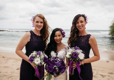 Nhu and her bridesmaids standing together