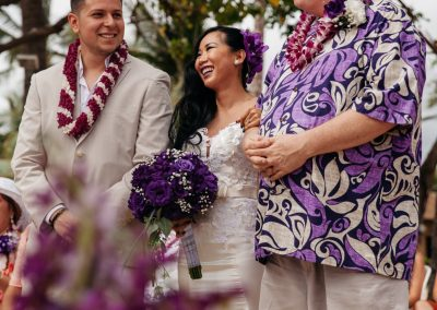 Nhu and Carl standing together at her wedding