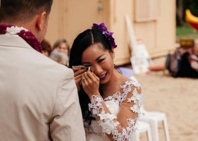 Nhu crying at her wedding