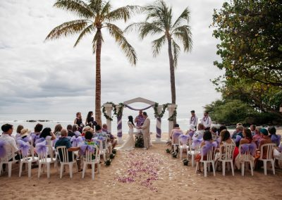 Nhu and her husband with the rest of their wedding guests