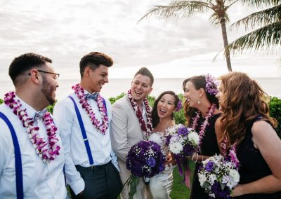 Nhu and her husband with their wedding party