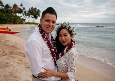 Nhu and her husband posing together